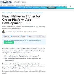 React Native vs Flutter for Cross-Platform App Development