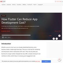 How Flutter Can Reduce App Development Cost?