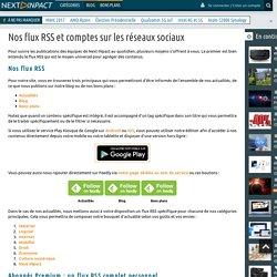 Nos flux RSS et comptes sur les réseaux sociaux