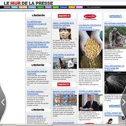 La Une Les flux rss des principaux journaux en ligne