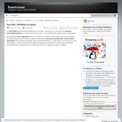 Flux RSS : définition et enjeux