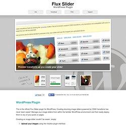 Flux Slider WordPress Plugin