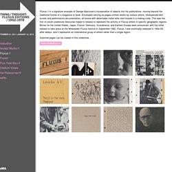 Fluxus Editions: 1962 to 1978