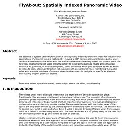 FlyAbout: Spatially Indexed Panoramic Video