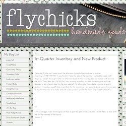 1st Quarter Inventory and New Product