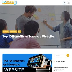 Top 10 Benefits of Having a Website - Flycoders Technologies