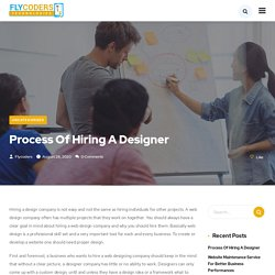 Process Of Hiring A Designer - Flycoders Technologies