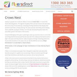 Flyer Drops and Delivery Crows Nest