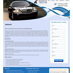 Best Washington flyer taxi service