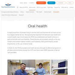 Flying Doctor dental programs