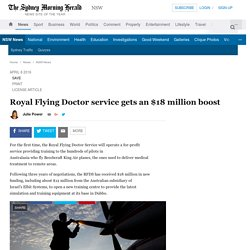 Royal Flying Doctor service gets an $18 million boost