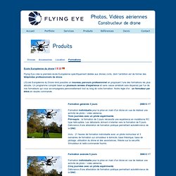 Flying Eye : Formation au pilotage de drone