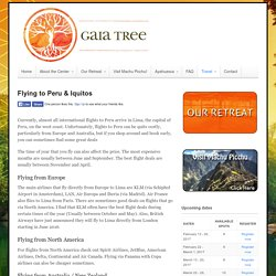 Flying to Peru & Iquitos - Gaia Tree Center