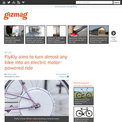FlyKly aims to turn almost any bike into an electric motor-powered ride