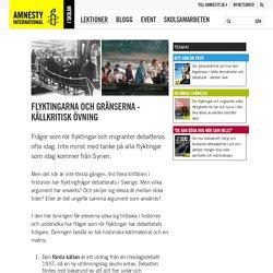 Flyktingarna och gränserna - källkritisk övning