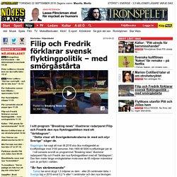Filip och Fredrik förklarar svensk flyktingpolitik – med smörgåstårta