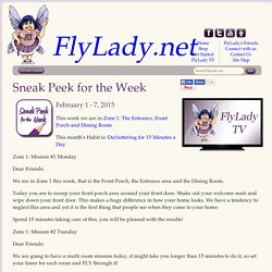 FlyLady.net: Sneak Peek for the Week