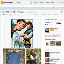 Flynn Rider Vest From Tangled: 6 Steps