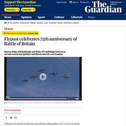 Flypast celebrates 75th anniversary of Battle of Britain