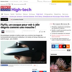 FlyViz, un casque pour voir à 360 degrés comme une mouche !