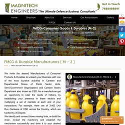 FMCG & Durable Manufacturers