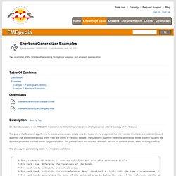 FMEpedia - SherbendGeneralizer Examples