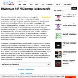 □ ▷ FMWhatsApp 8.05 APK Descarga la última versión ✅