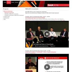 FMX: FMX 2016 Livestream