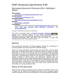 FOAF Vocabulary Specification