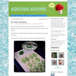 fun foam stamping « genuine mudpie