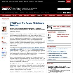 'FOCA' And The Power Of Metadata Analysis