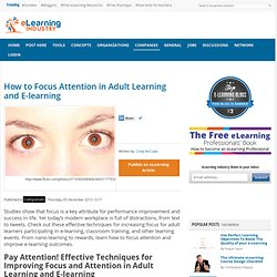How to Focus Attention in Adult Learning and E-learning
