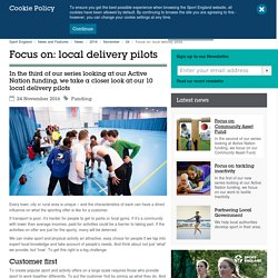 Focus on: local delivery pilots