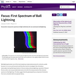 First Spectrum of Ball Lightning