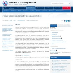 Focus Group on Smart Sustainable Cities