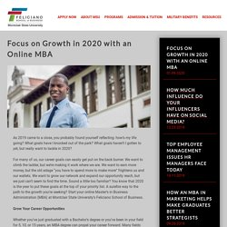 Focus on Growth in 2020 with an Online MBA - MSU - Online MBA