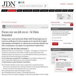 Focus sur un job en or: le Data Scientist