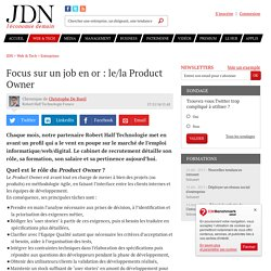 Focus sur un job en or : le/la Product Owner