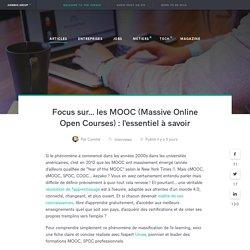 Focus sur... les MOOCs : l'essentiel à savoir