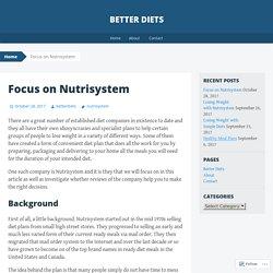Focus on Nutrisystem