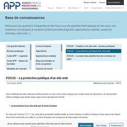 FOCUS - La protection juridique d'un site web