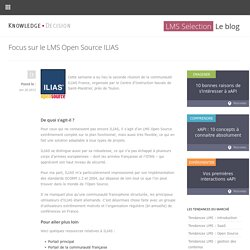Focus sur le LMS Open Source ILIAS