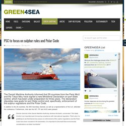 PSC to focus on sulphur rules and Polar Code