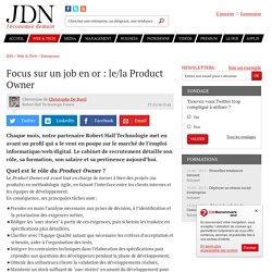 Focus sur un job en or: le/la Product Owner