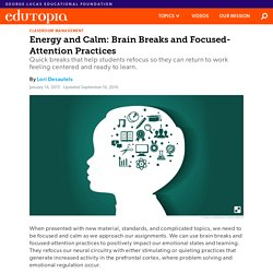 Energy and Calm: Brain Breaks and Focused-Attention Practices