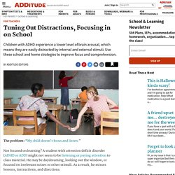 Not Focused at School? Helping a Child with ADHD / ADD Focus & Learn
