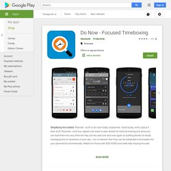 Do Now - Focused Timeboxing - Apps on Google Play