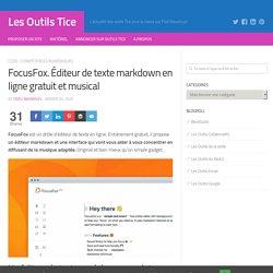 FocusFox. Éditeur de texte markdown en ligne gratuit et musical