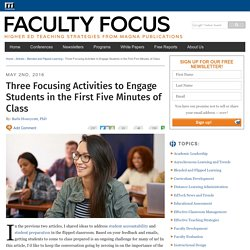 Three Focusing Activities to Engage Students in the First 5 Minutes of Class