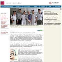 Focusing on comparative health care policy in Asia - AHPP